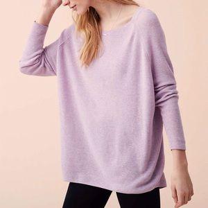Lou & Grey purple dolman sweater